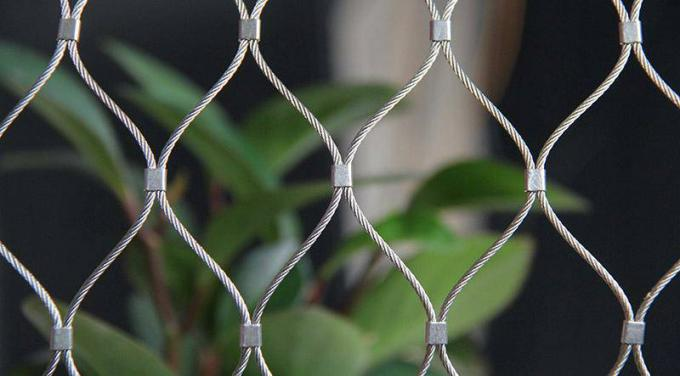 AISI 304 316 Flexible Stainless Steel Architectural Mesh Wire Rope Mesh Net