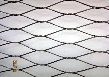 SS316 Material Knotted Rope Mesh Roll Size Customized With Surface Polished
