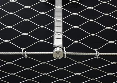 Flexible Stainless Steel Architectural Mesh Corrosion Resistant For Railings