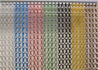 Multicolor Aluminum Chain Fly Screen , Elegance Door Fly Screen Curtain