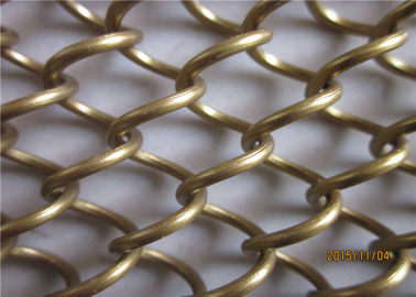 Gold Color Metal Coil Drapery Aluminum Alloy Material For Room Divider