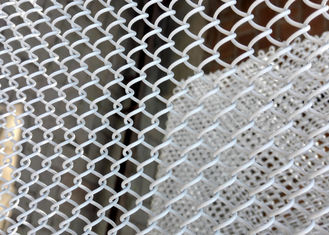 High Strength Aluminum Chain Link Drapery , Metal Coil Mesh Drapery With Good Ventilation