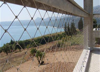 Hand Woven Stainless Steel Wire Rope Fence Mesh / Bird Netting Wire Mesh