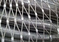 SS316 / SS304 Architectural Wire Mesh Fencing Corrosion Resistant SGS Approved