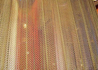 Customized Colored Metallic Curtain / Chain Mesh Curtain Indoor Decoration