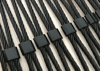 Stainless Steel Black Oxide Wire Rope Mesh For Decoration / Safety / Staircase