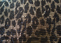 Silkscreen Metallic Sequin Curtain Fabric , Aluminum Mesh Fabric For Decoration