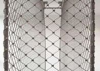 Yuntong Stainless Steel Wire Rope Mesh / Metal Rope Mesh For Protect School Football