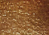 Fashion Brass / Aluminum Alloy Metallic Mesh Fabric Colth Sequin Fabric
