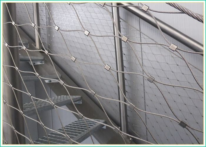 High Durability Balustrade Wire Mesh Infill For Indoor / Outdoor Protection