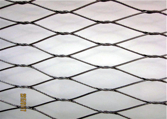 Safety 304 304L 316 316L Stainless Steel Cable Netting Knotted Rope Mesh