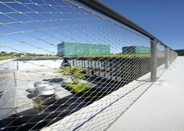 Inox Webnet Decorative Rope Mesh For Bridges / Stairs Infill Protection