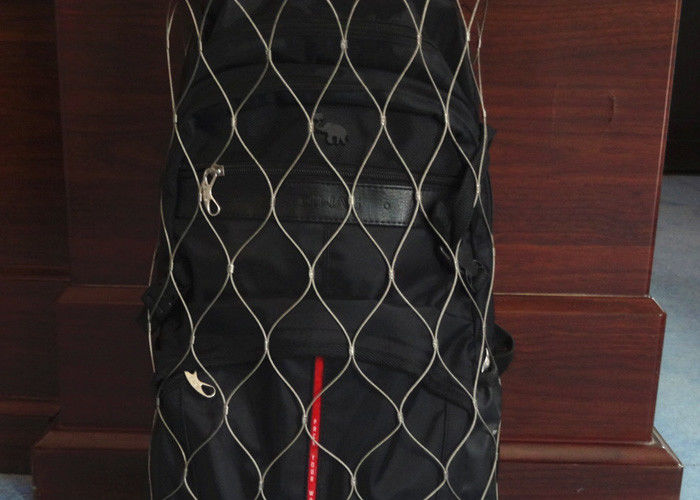 Stainless Steel Anti Theft Backpack Mesh 1.2-3.2mm Wire Diameter For Safety