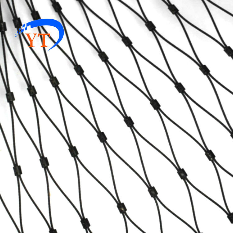 Flexible Black Oxide Wire Rope Mesh Of 304 316 316L Stainless Steel