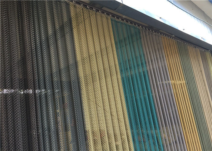 Aluminum Alloy Metal Coil Drapery Metal Mesh Curtain For Office Partition
