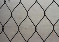 High Durability Black Oxide Wire Rope Mesh / Animal Bird Cage Fencing CE Certificated